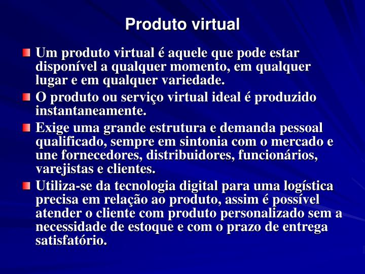 Produto virtual