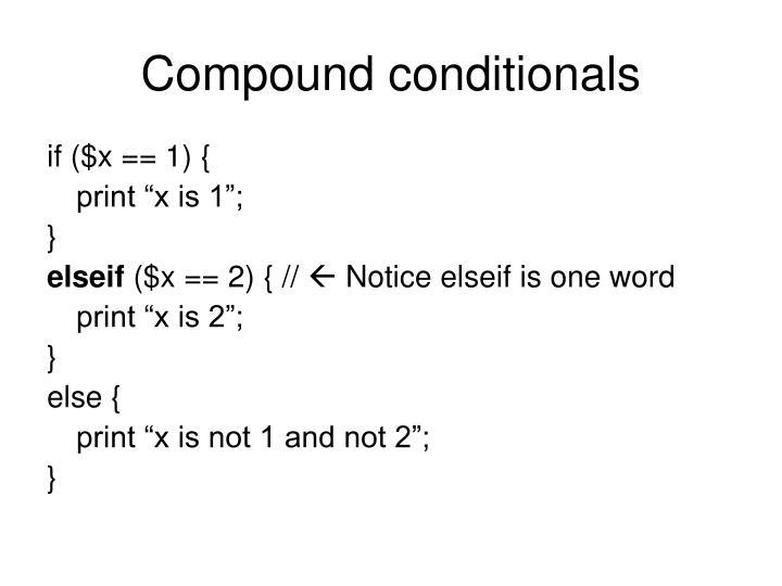 Compound conditionals