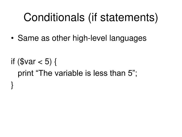 Conditionals (if statements)