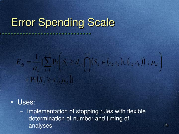 Error Spending Scale