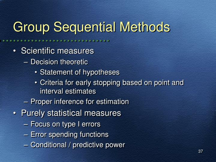 Group Sequential Methods