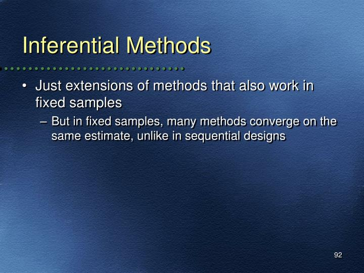 Inferential Methods