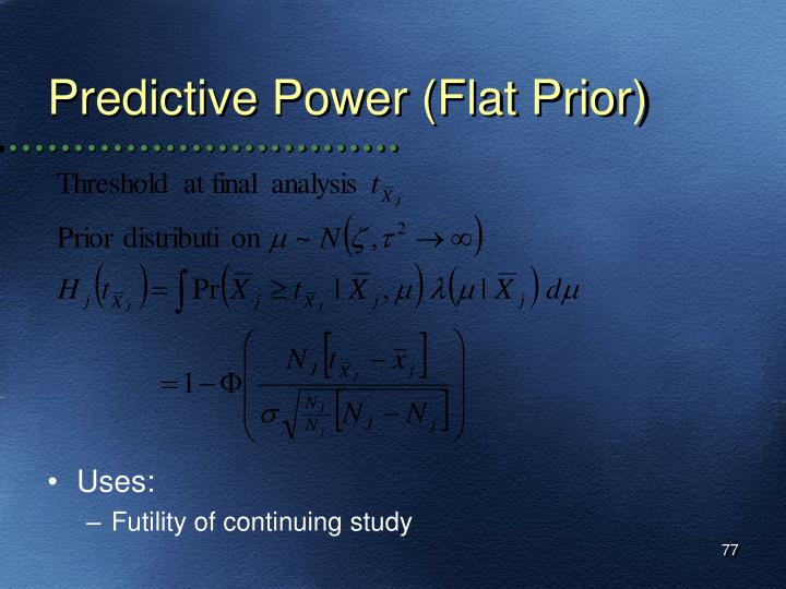 Predictive Power (Flat Prior)