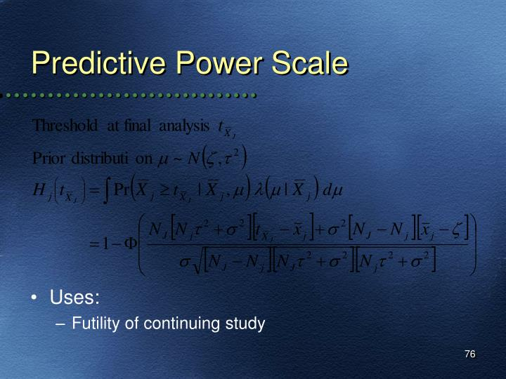 Predictive Power Scale