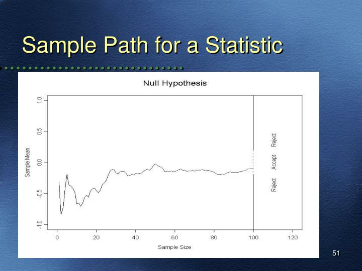 Sample Path for a Statistic