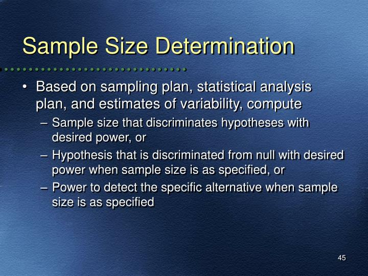 Sample Size Determination
