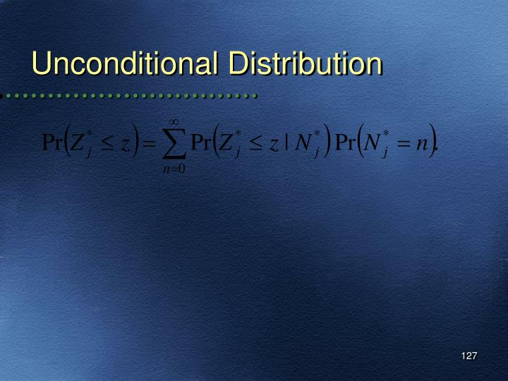 Unconditional Distribution