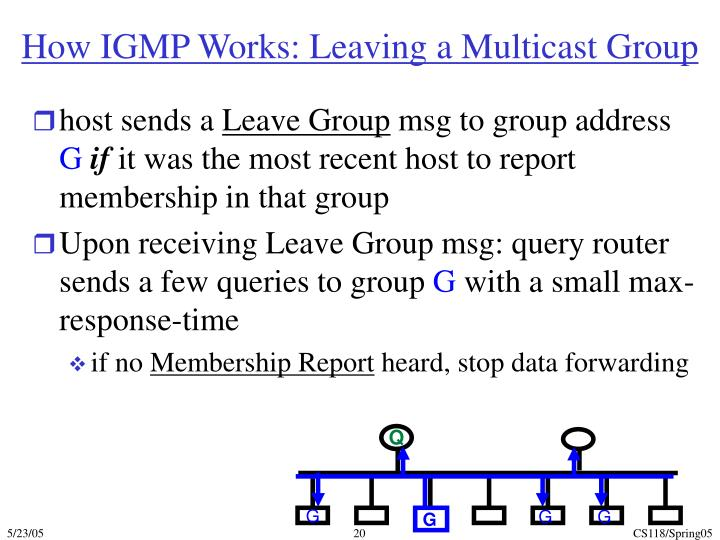 How IGMP Works: Leaving a Multicast Group