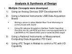 analysis synthesis of design