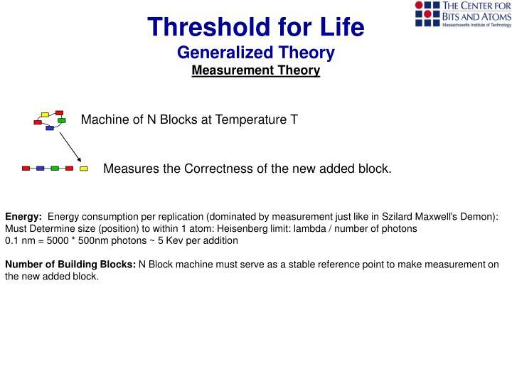 Threshold for Life