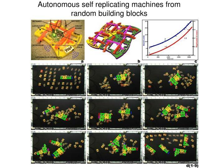 Autonomous self replicating machines from