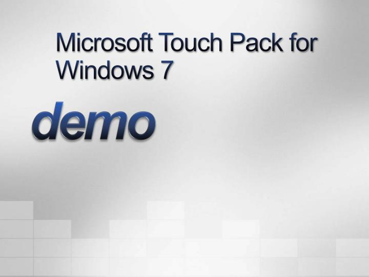 Microsoft Touch Pack for Windows 7