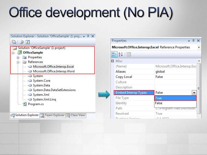 Office development (No PIA)