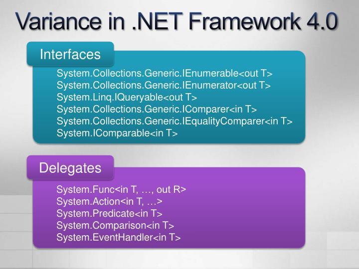Variance in .NET Framework 4.0