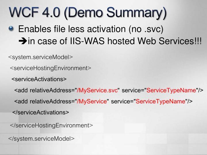 WCF 4.0 (