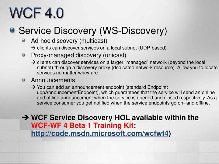 WCF 4.0