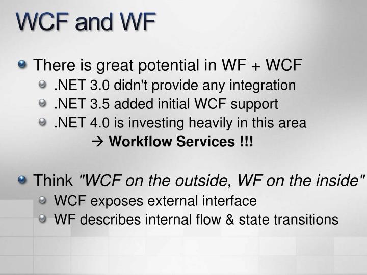 WCF and WF