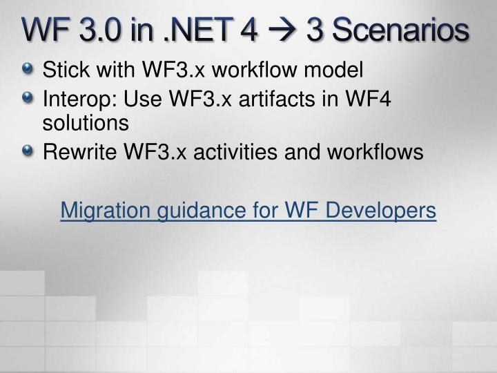WF 3.0 in .NET 4