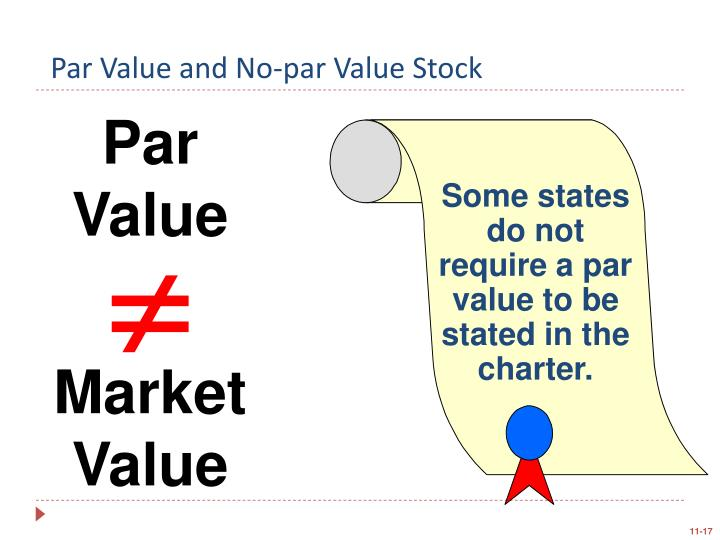 Some states do not require that a par value be stated in the charter.