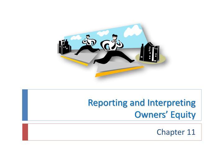 Reporting and Interpreting