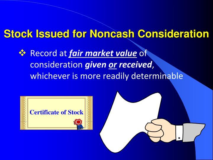 Certificate of Stock