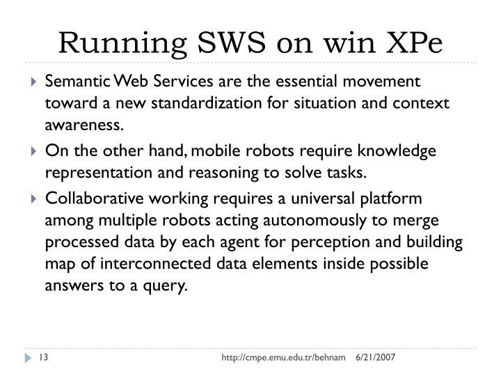 Running SWS on win