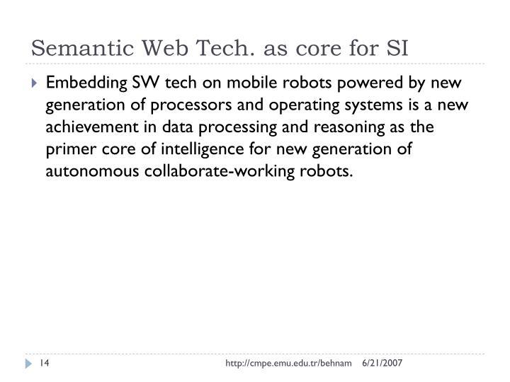 Semantic Web Tech. as core for SI