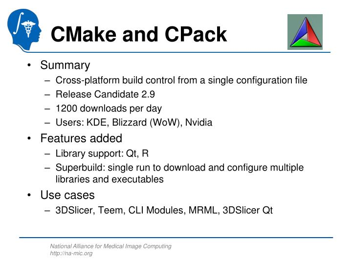 CMake and CPack