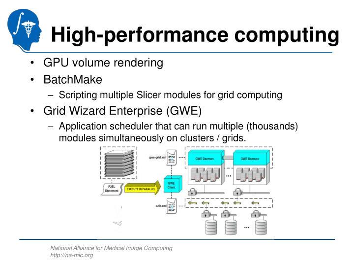 High-performance computing