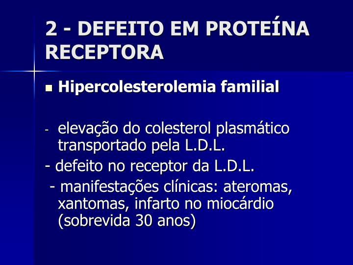 2 - DEFEITO EM PROTEÍNA RECEPTORA