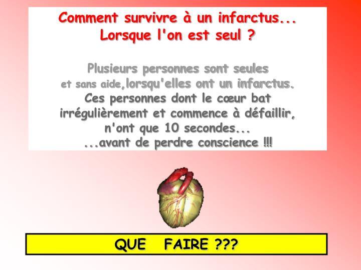 Comment survivre à un infarctus...