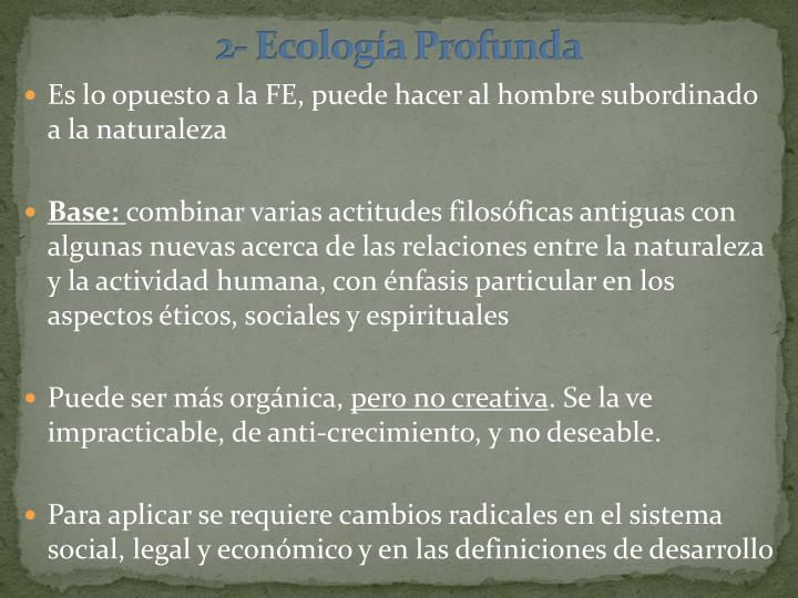2- Ecología Profunda