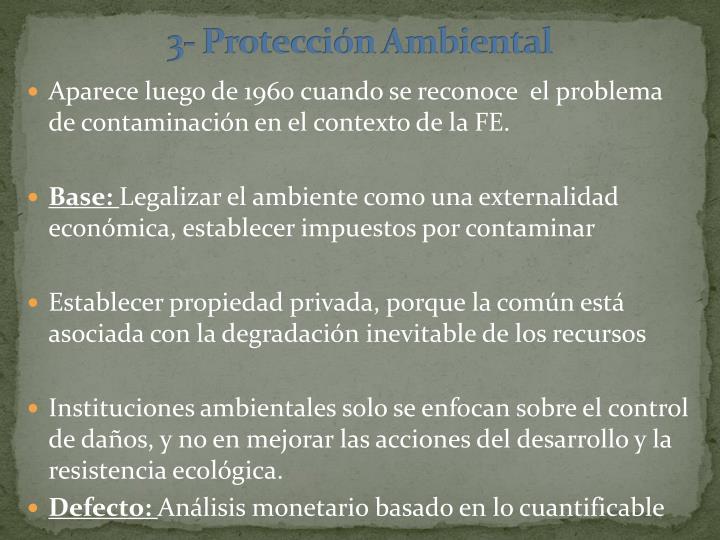 3- Protección Ambiental