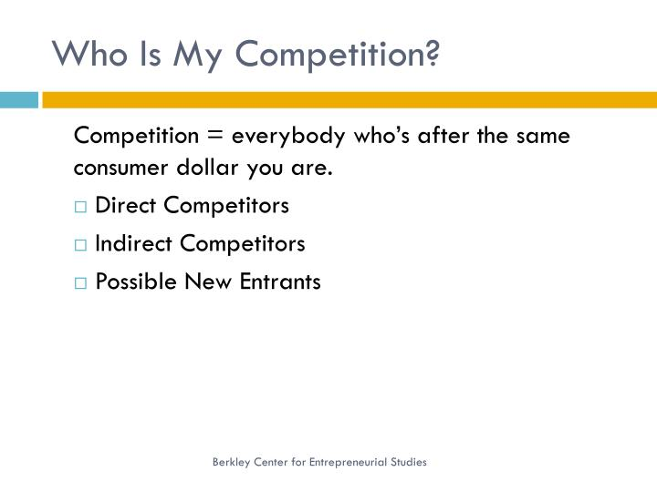 Who Is My Competition?