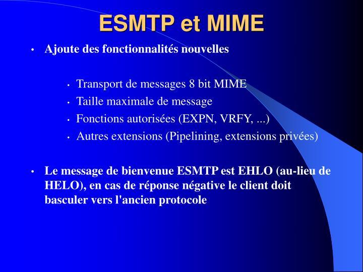 ESMTP et MIME
