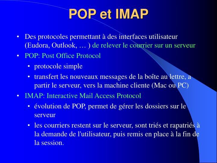 POP et IMAP
