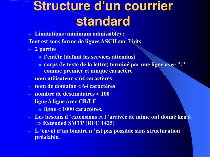 Structure d'un courrier standard