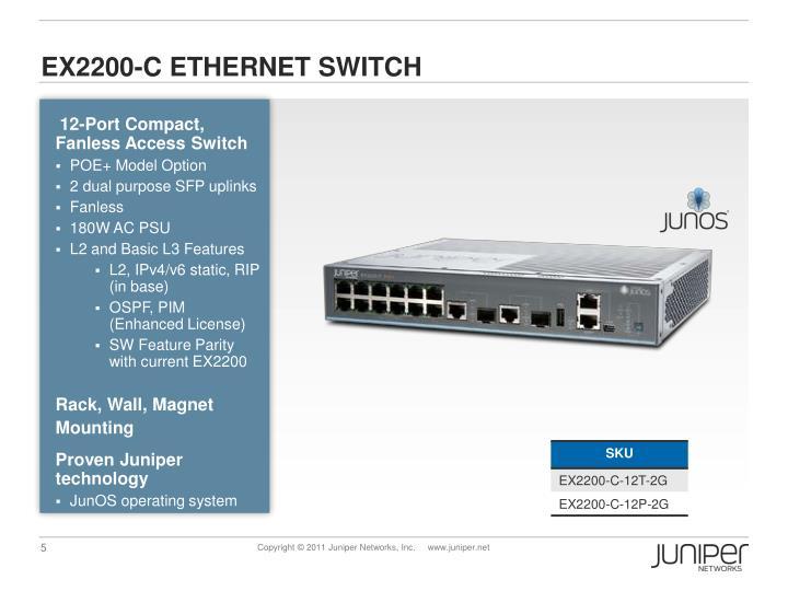 EX2200-C ETHERNET SWITCH