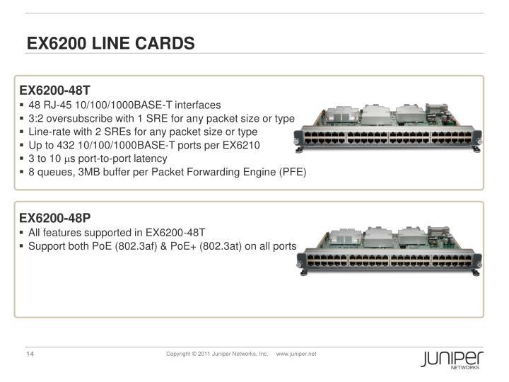 EX6200 LINE CARDS