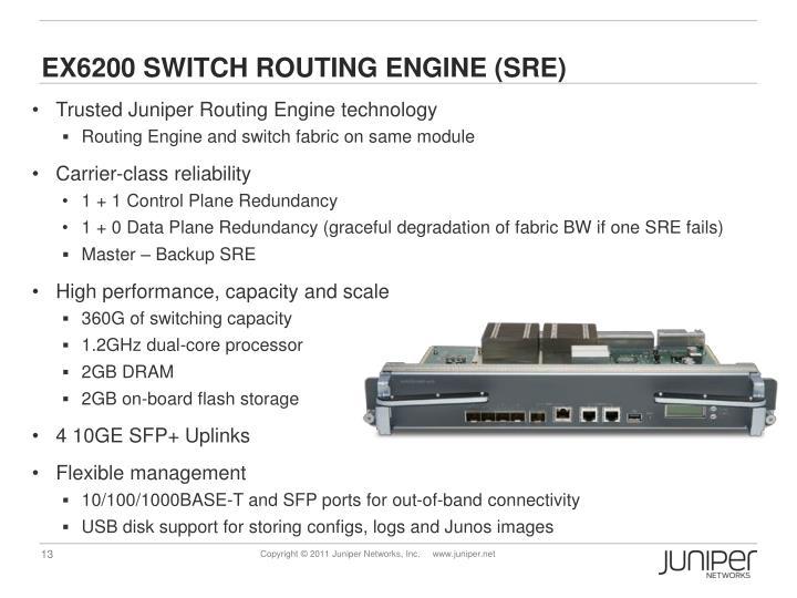 EX6200 Switch Routing Engine (SRE)