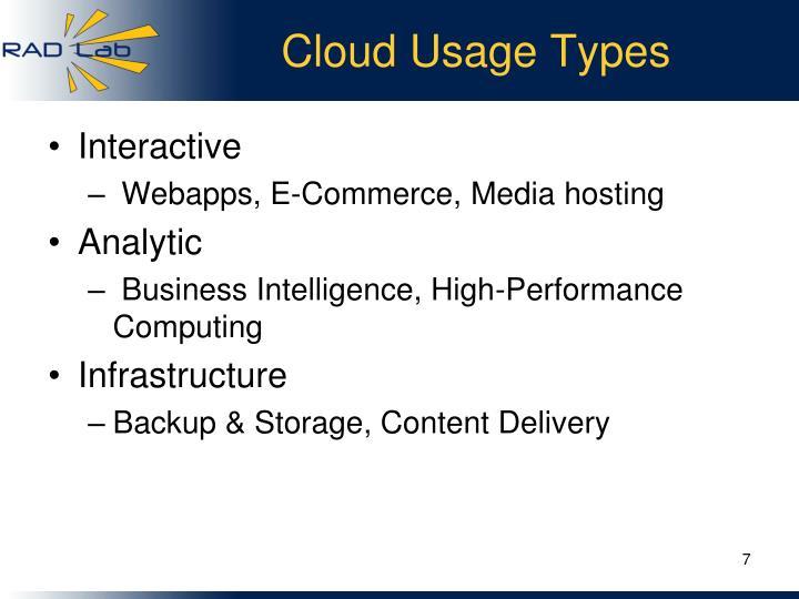 Cloud Usage Types