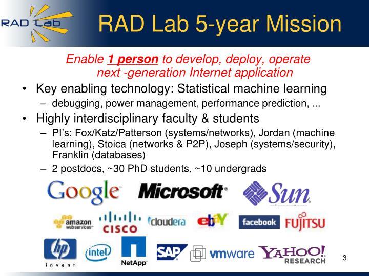 RAD Lab 5-year Mission