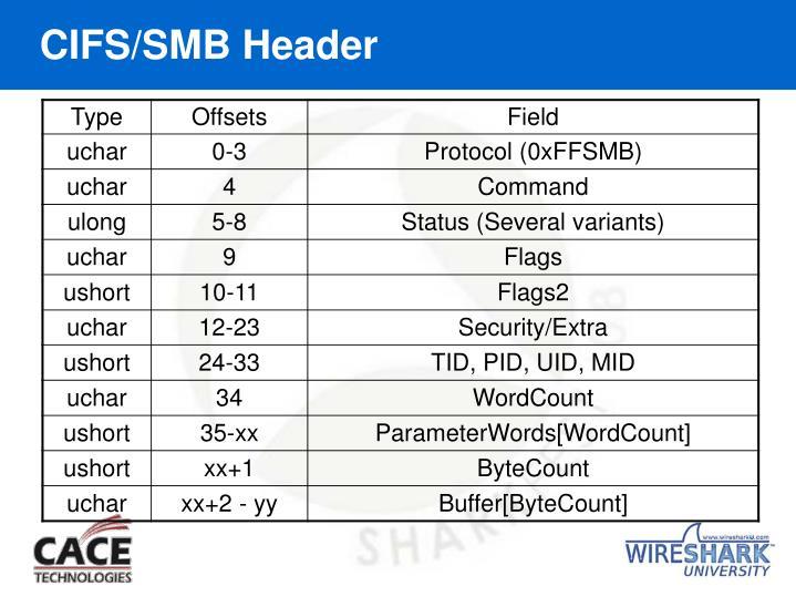 CIFS/SMB Header