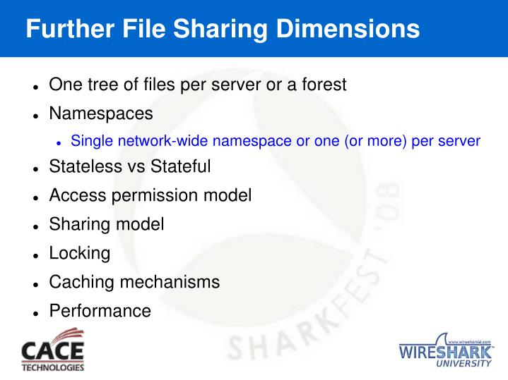 Further File Sharing Dimensions