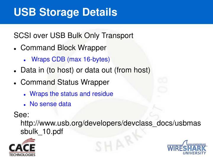 USB Storage Details