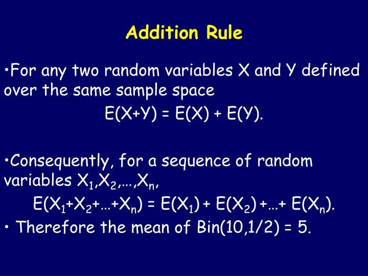 Addition Rule