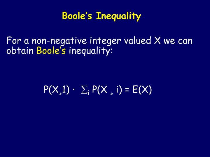 Boole's Inequality