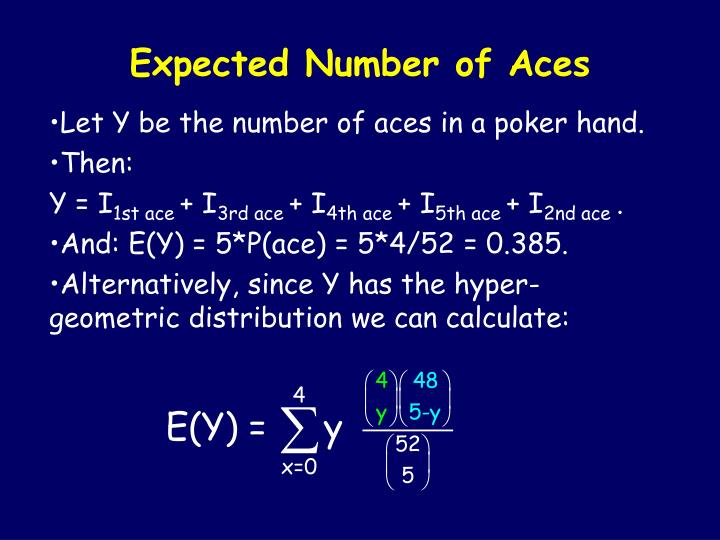 Expected Number of Aces