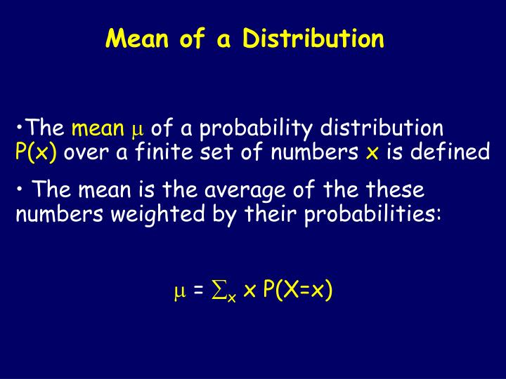 Mean of a Distribution