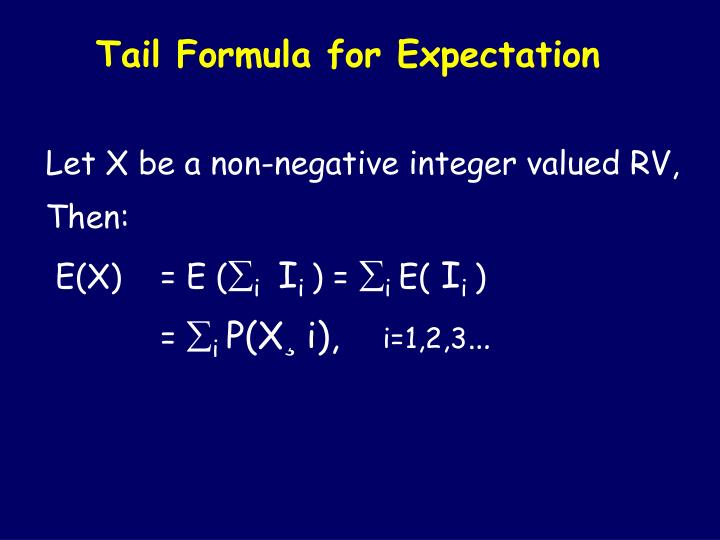 Tail Formula for Expectation